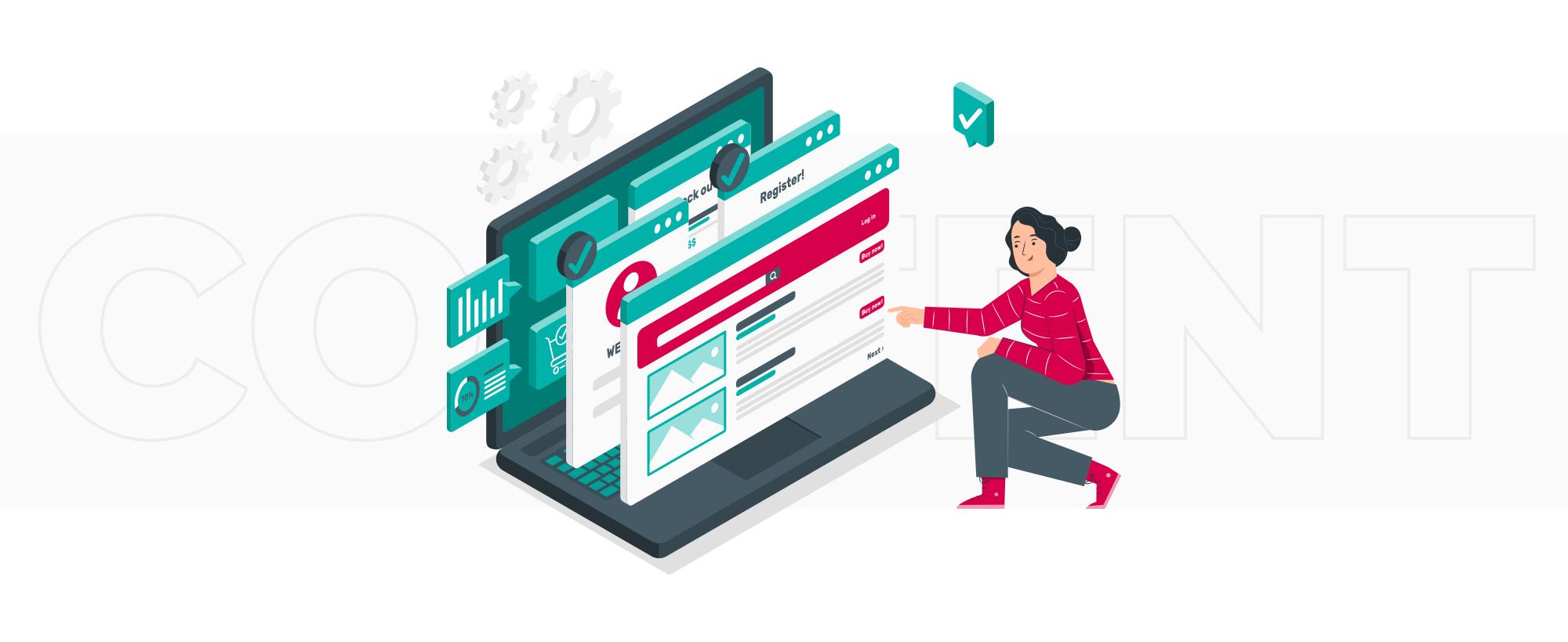 focus on content in UI/UX